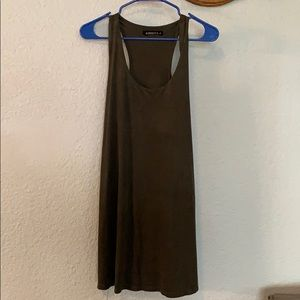 Suede Forest Green Dress